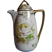 Royal Rudolstadt hand painted (19th Century) gilded Coffee Pot with Gilded Lid