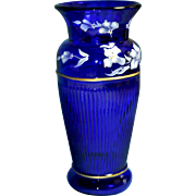 Fenton Cobalt Vase Landmark Collection 2005 QVC