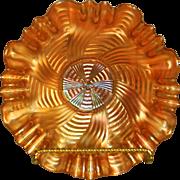 "Fenton 1929 Marigold Carnival ""Comet"" or ""Ribbon Tie"" pattern 3 in 1 edge 8 1/2 inch Bowl"