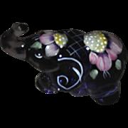 "Fenton Purple Amethyst Glass HP Trunk Up Elephant ""a gorgeous bargain"""