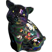"""Fenton """"Gorgeous"""" Cherry Blossoms Amethyst Carnival Pig HP"""
