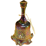 Fenton QVC 1995 Purple Carnival Decorated Pleated Bell