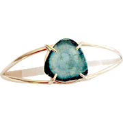 Namibian Blue Tourmaline Slice Bracelet