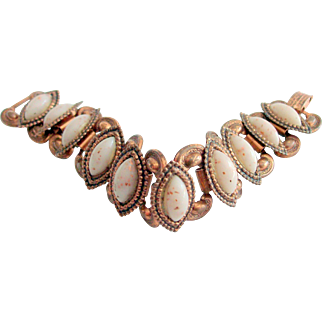 Early Copper Bracelet With Artistic Navettes