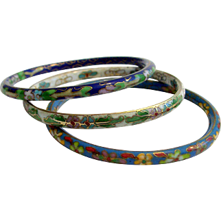 Three Cloisonne Bracelets