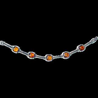 Marcasite Butterfly 925 Sterling Silver Bracelet