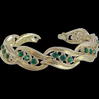 Lisner Rhinestone & Gold-tone Bracelet