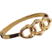 Crown Trifari Signed Link Bangle Bracelet