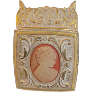 Footed Trinket Box With Cameo