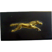 1950's Brass Horse Match Safe With Original 1954 Blue Tip Match Box