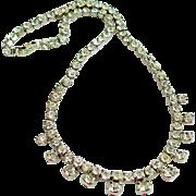 Kramer Signed Clear Rhinestone Necklace
