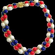 1940's Crown Trifari Double Strand Necklace