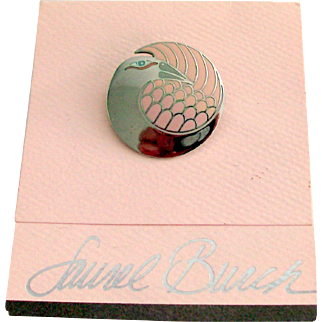 "Laurel Burch ""Mynah Bird"" Brooch on Original Card"