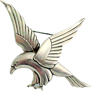 Sterling Craft by Coro Eagle Brooch