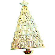Danecraft Holiday, Christmas Tree Brooch
