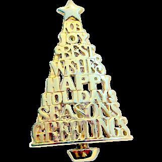 Danecraft Holiday, Christmas Tree Brooch