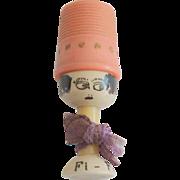 French Thimble Bobbin Holder Doll