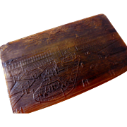 Antique Carved Horn Snuff Box, Place de la Concorde, Paris, France