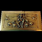 """Antique Bronze Box, """"Pixie of the Moor"""""""