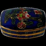 Vintage Enameled Cloisonne Pill Box