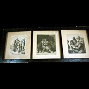 David Deuchar Framed Etchings, Ca 1802