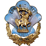 Knights Templar Pin, Boston Committee, 1895