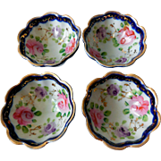 Nippon Porcelain Nut Dishes, Set of Four