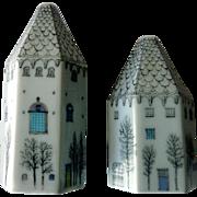 """Vintage Porcelain Salt & Pepper Shakers, Rosenthal, """"Winter Journey"""""""