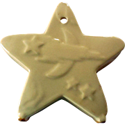 Mid-Century Pottery Star Wall Pocket, Planter