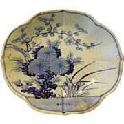 Early Japanese Blue & White Dish, 18th/19th C