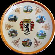 Vintage Souvenir Plate of Berlin, Fine Bavarian China