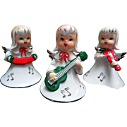 Mid-Century Ceramic Christmas Angels, Set of 3