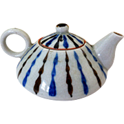 Vintage Art Pottery Miniature Sake/Teapot, Japan