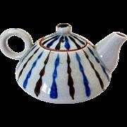 Vintage Art Pottery Single-Serve/Miniature Teapot, Japan