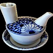 Vintage Hand-Painted Japanese Porcelain Sake/Teapot