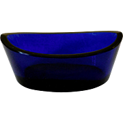 Vintage Cobalt Blue Glass Master Salt Cellar