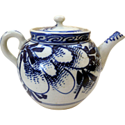 19th Century Blue & White Japanese Porcelain Teapot