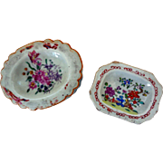 18th Century Chinese Export Famille Rose Salt Cellars (2)