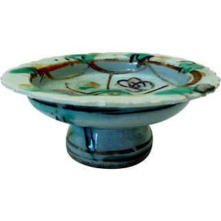 Early Chinese Celadon Pedestal Dish, Pre-1800