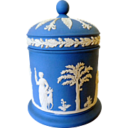 Vintage Wedgwood Jasperware Covered Jar, Cache Pot