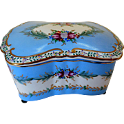 Antique Richard Klemm, Dresden Porcelain Dresser Box