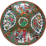 19th Century Chinese Rose Medallion Plate