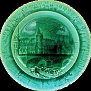 Vintage Majolica Plate, Paris Monument, La Conciergerie