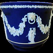 Vintage Cobalt Blue Wedgwood Jasperware Jardiniere