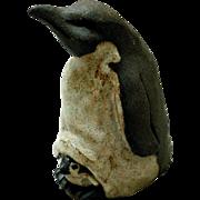 Vintage Studio Pottery Figurine, Emperor Penguin & Baby
