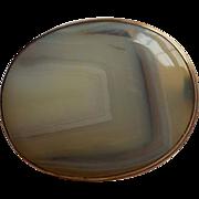 Antique Scottish Montrose Agate Brooch