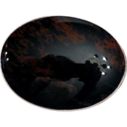 Antique Victorian Agate Brooch