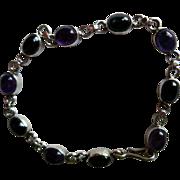 Vintage Link Bracelet with Natural Amethyst