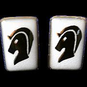 Retro Cuff Links, Trojan Horse, by Evans