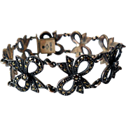 Judith Jack Sterling Silver and Marcasite Bracelet, Mid-Century